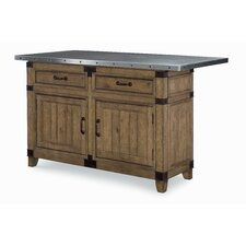 MetalWorks Kitchen Island with Stainless Steel Top