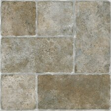 "Sterling 12"" x 12"" x 1.2mm Vinyl Tile in Cottage Stone"
