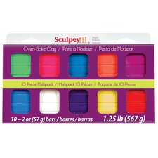 Polymer Clay (Set of 10)