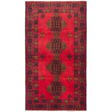 Khandahar Finest Hand-Knotted Red Area Rug