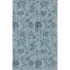 Mod Elegance Hand-Tufted Light Blue Area Rug