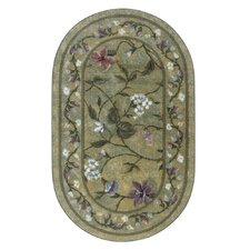 Butterfly Golden Green Area Rug