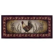 Prancing Rooster Kitchen Novelty Rug