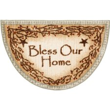 Berry Blossoms Blessing Kitchen Brown Novelty Rug