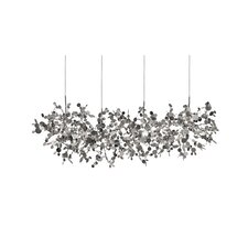 "Argent 12 Light Pendant 49.2"" Suspension White Iron Finish Pendant"