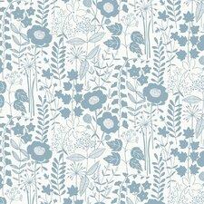 "Lou's Garden 15' x 27"" Floral and Botanical Wallpaper"