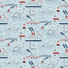 "Ships and Sails 15' x 27"" Scenic Roll Wallpaper"