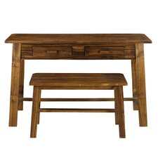 Writing Desk and Bench Set