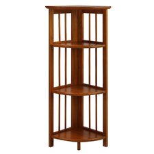 "Folding 38"" Corner Unit Bookcase"