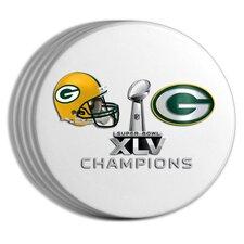 2011 NFL Super Bowl Championship 4-pack Coaster Set