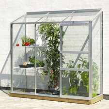 Ida 1.9m x .7m Wall Garden Greenhouse with Toughened Glass
