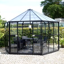 Hera 3.8m W x 3.3m D Hobby Greenhouse