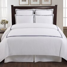 Three Line Hotel 3 Piece Duvet Cover Set