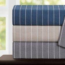 Pinstripe 300 Thread Count 100% Cotton Sateen Sheet Set