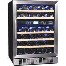 46 Bottle Dual Zone Built-In Wine Refrigerator
