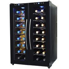 32 Bottle Dual Zone Freestanding Wine Refrigerator