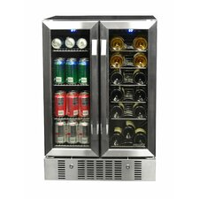 18 Bottle Dual Zone Built-In Wine Refrigerator