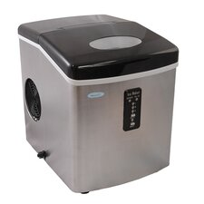 """11"""" W 28 lb. Portable Ice Maker in Stainless Steel"""