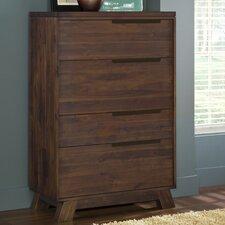 Portland 4 Drawer Secretary Chest