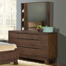 Portland 6 Drawer Dresser with Mirror