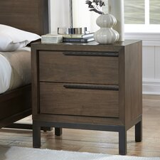 Prague 2 Drawer Nightstand