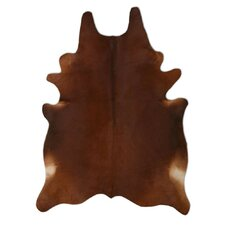 Natural Cowhide Chestnut Area Rug