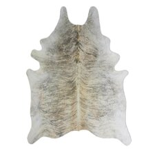 Natural Cowhide Exotic Zebu Grey Area Rug