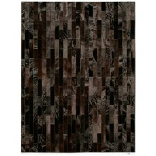 Patchwork Cowhide Linea Brownie Area Rug