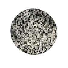 Patchwork Cowhide Moderna Grey Freckles Area Rug