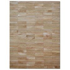 Patchwork Cowhide St. Etienne Wheat Area Rug