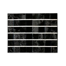 Patchwork Cowhide Marea Black Area Rug