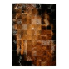Patchwork Cowhide Park Normand Brown/Black Area Rug