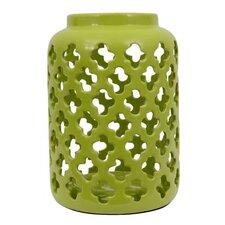 Ceramic Quatrefoil Lantern