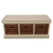 Melody Wood Storage Entryway Bench