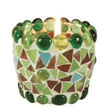 """4-tlg. Teelichtschale """"Mosaik"""" in Grün"""