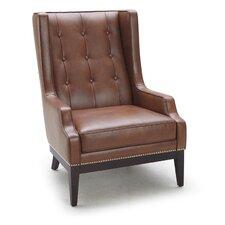 5West Biblioteca Leather Arm Chair