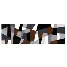 Ikon Grey Cubism Graphic Art on Canvas
