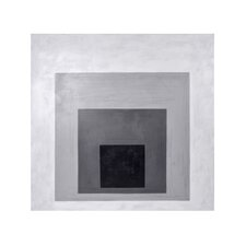 Ikon Albers Inspired Photographic Print on Wrapped Canvas in Gray