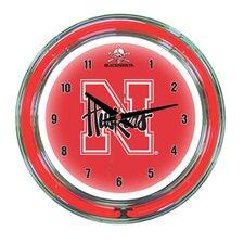 """NCAA 14"""" Team Neon Wall Clock"""