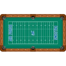 NCAA Football Field Recreational Billiard Table Felt