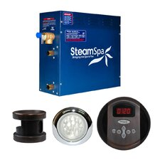 SteamSpa Indulgence 4.5 KW QuickStart Steam Bath Generator Package in Oil Rubbed Bronze