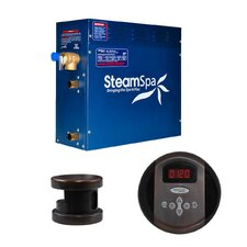 SteamSpa Oasis 9 KW QuickStart Steam Bath Generator Package in Oil Rubbed Bronze