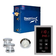 SteamSpa Indulgence 10.5 KW QuickStart Steam Bath Generator Package in Polished Chrome