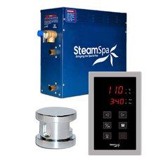 SteamSpa Oasis 6 KW QuickStart Steam Bath Generator Package in Polished Chrome
