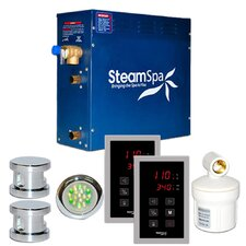 SteamSpa Royal 10.5 KW QuickStart Steam Bath Generator Package in Polished Chrome