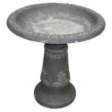 Stone Fiber Clay Bird Bath