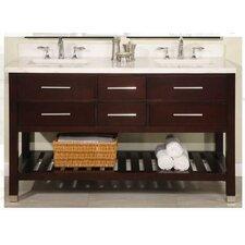 """Priva 60"""" Double Open Bathroom Vanity Set"""