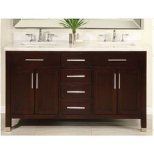 "Monaco 60"" Double Bathroom Vanity Base"