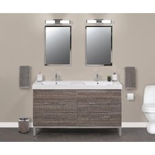 "Daytona 60"" Double Sink Bathroom Vanity Set"