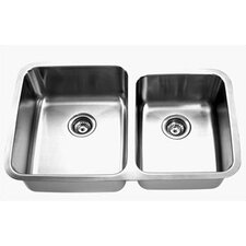 "35.5"" x 24.5"" Double Undermount Kitchen Sink"